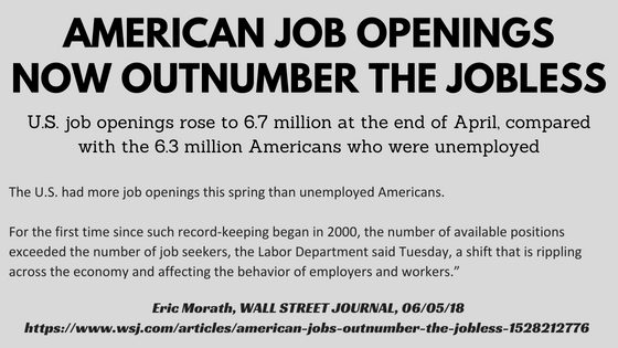 American Job Openings Now Outnumber the Jobless
